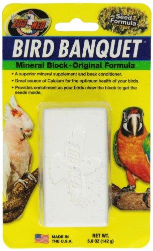 Zoo Med Bloc de Minéraux Banquet pour Oiseau Taille L 142 g