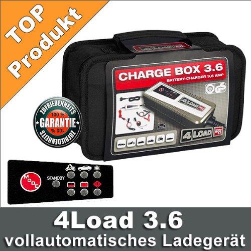 Batterie Autobatterie Ladegerät Charge Box 4Load 3.6 PKW Batterieladegerät AGM Gel