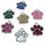 Grneric 7 Piezas Etiquetas de identificación de Mascotas grabadas...