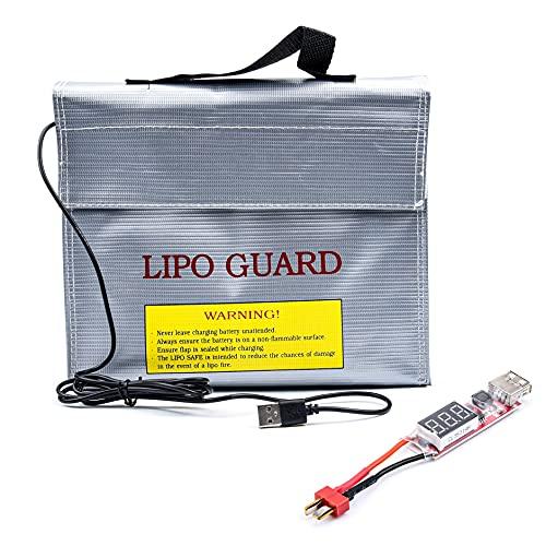 Prueba de explosión a prueba de fuego portátil para la bolsa de seguridad de la batería de Lipo Calentador de la batería del calentador convertidor de carga para RC Para el helicóptero de avión de veh