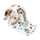 BLUE C HIGH Absorbent Cartoon Animal Printed Baby and Kids Super Soft Muslin Square Bath Towel WASH Cloth (48CM x 84CM) (Pack of 2), (Colors May Vary)