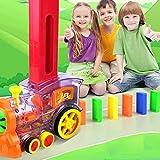 Daoyuan Transparente Domino Puzzle Niños De Lanzamiento De Licencias Automáticas De Tren Eléctrico Vibrato Mismo Juguete,Set