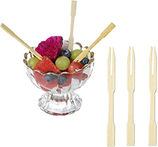 Bamboo Forks,Party Forks for Party Buffet Mini Forks,Catering and Daily Life. 3.5 Inch (100 PCS)