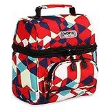 J World New York Corey Kids Bag Insulated Lunch-Box Women, Red Cubes