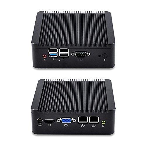 Qotom Mini PC Q190S-S02 with Intel Celeron j1900 Processor Quad core up to 2.42 GHz, 2GB RAM 32GB SSD WiFi, Fanless Qotom j1900 Mini PC