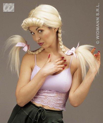 Pruik Helen met flexibele vlechten, blond
