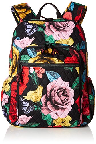 Vera Bradley Women's Signature Cotton Campus Backpack, Havana rose, One Size