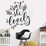 stickers muraux citations en francais N'est-elle pas Lovely Quotes Nursery Floral Pour Baby Kids Room Wallpeprs