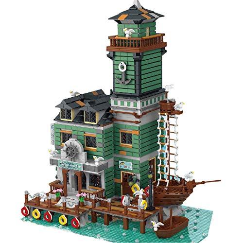 Bloques de construcción de modelos, 2745 bloques de sujeción, casas de arquitectura con minifiguras, kit de modelo compatible con Lego Ideas 21310 Alter Angling Store (30103)