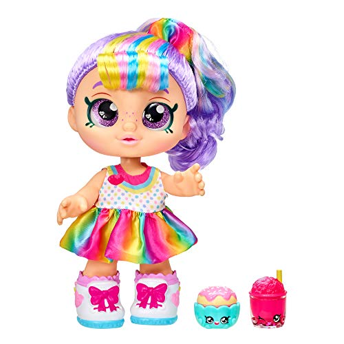 Kindi Kids Snack Time Friends - Pre-School Play Doll, Rainbow Kate - for Ages 3+ | Changeable Clothes and Removable Shoes - Fun Snack-Time Play, for Imaginative Kids