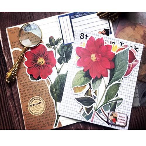 TTBH DIY Aufkleber Vintage Pflanze Dahlie Scrapbooking Album Journal Happy Planner Hand Konto Handwerk Kunst Dekorationsmaterial Aufkleber