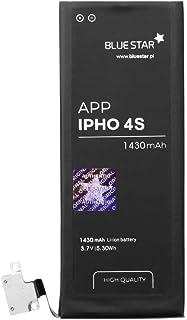 Blue Star Premium HQ Batería de Li Polymer (HQ) 1430 mAh de Capacidad Carga Rapida 2.0 para Compatible con el iPhone 4S