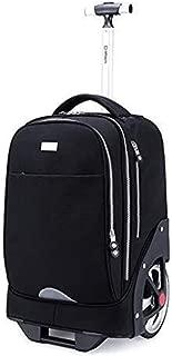 Shoulder Bag Trolley Bag Middle School Student Shoulder Bag Female Luggage Bag 18 Inch (Color : Black, Size : 18 inches)