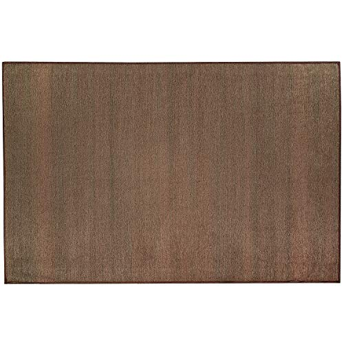 RUGGABLE Washable Stain Resistant Indoor/Outdoor, Kids, Pets, and Dog Friendly Accent Rug, 3'x5', Solid Textured Espresso