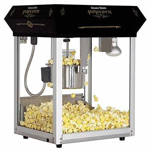 Bullseye 113.4 g (4 oz.) Black Countertop Popcorn Machine (Black)