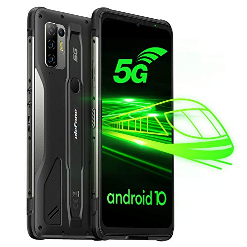 Ulefone Armor 10 5G Smartphones - Android 10 Outdoor Handy ohne Vertrag Octa-Core MediaTek Dimensity 800 Chipsatz 8GB+128GB 6,67 Zoll FHD+ Bildschirm 64MP Hauptkamera Wasserdicht Rugged Phone