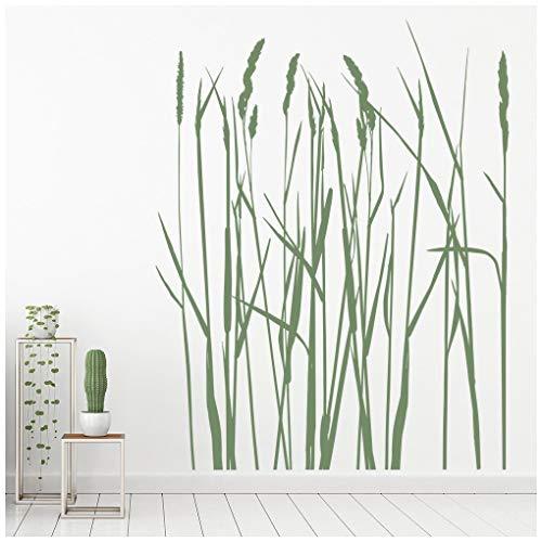 azutura Langes Graß Wandtattoo Blumenbäume Wand Sticker Natur Blumen Wohnkultur verfügbar in 5 Größen und 25 Farben Mittel Gras Grün