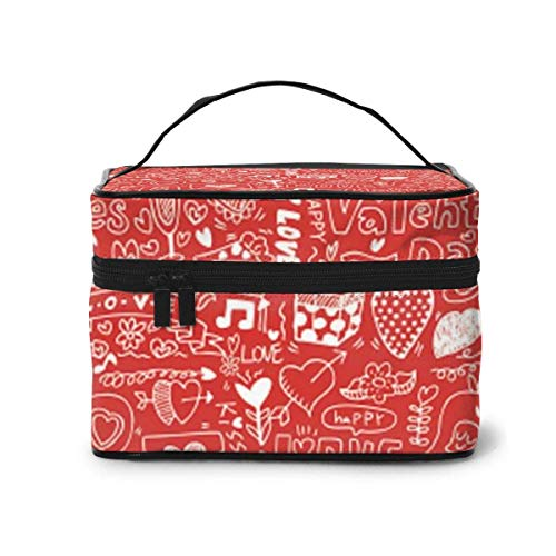 Love Travel Cosmetic Case Organizer Portable Artist Storage Bag, Multifunction Case Toiletry Bags for Women