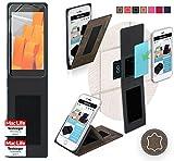 Hülle für Wileyfox Spark+ Tasche Cover Hülle Bumper | Braun Wildleder | Testsieger