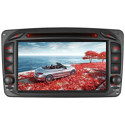 "7"" AUTORADIO DVD GPS Navigation NAVI USB SD BT Autoradio VMCD CD Wechsler DAB+ Für Mercedes Benz C Klasse W203 CLK W209 W463 Vito WM (Radio)"
