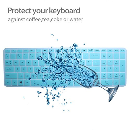 Keyboard Cover Skin For 15.6-Inch HP Pavilion 15-ab 15-ac 15-ae 15-af 15-an 15-ak 15-ay 15-ax 15-as 15-ba 15-bc 15-bk Series, HP Envy x360 m6-ae151dx m6-p113dx m6-w (US New Layout) (Mint Green)