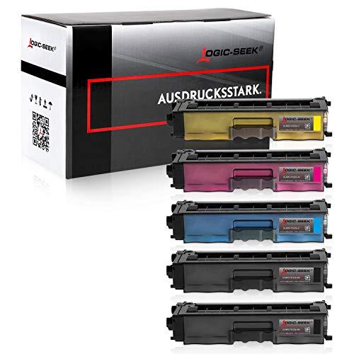 5 Logic-Seek Toner kompatibel für Brother HL-L8250cdn, HL-L8350cdw, MFC-L8650cdw - Schwarz je 4.000 Seiten, Color je 3.500 Seiten