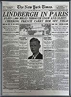 ポスター ピーター リンドバーグ VISIONAIRE(ヴィジョネアー)チャールズ・リンドバーグ NYタイムズ1927年5月22日 額装品 アルミ製ベーシックフレーム(ブラック)