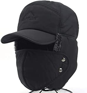 فو الفراء كاب قبعة قناع الرياح التزلج بالاكلافا غطاء الرجال النساء