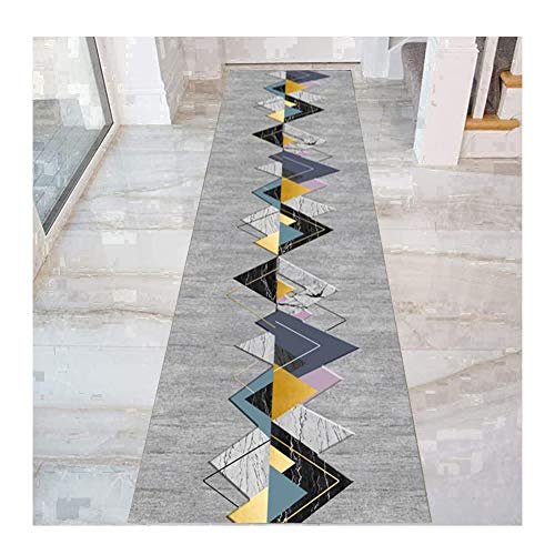 Dark Green Color : Multi-colored, Size : 60x100cm HAIPENG Runner Rug for Hallway with Non Slip Backing Cuttable Entryway Carpet for Corridor Kitchen and Entrance
