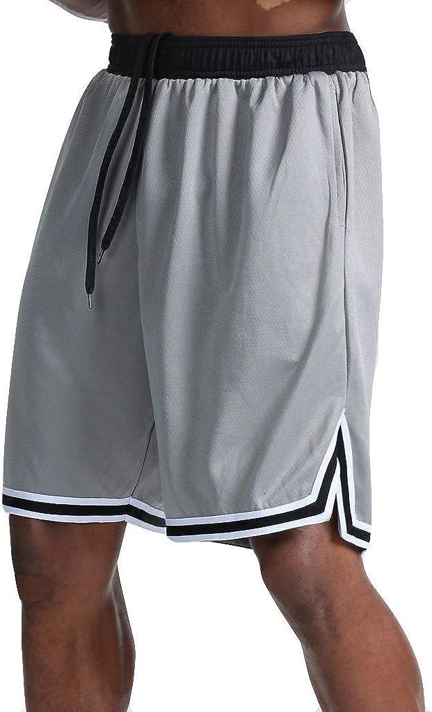 Burband Mens Casual Shorts Summer Workout Fitness Gym Basketball Shorts Lounge Athletic Joggers Running Shorts Sweatpants