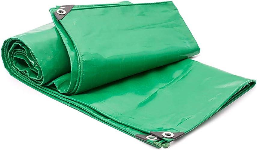 ZQ Baches imperméables Robustes de vert, Toile résistante à la Corrosion de Parasol, pour Couverture de Camion, Voiture, Tente, Bateau ou piscine-4x5