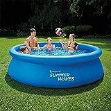 Sesamall Piscina da Esterno AUTOPORTANTE Summer Waves Quick Set con Pompa FILTRANTE 3.9m