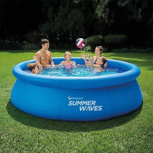 piscina autoportante Sesamall Piscina da Esterno AUTOPORTANTE Summer Waves Quick Set con Pompa FILTRANTE 3.9m