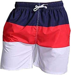 Men's Swimwear Loose Beach Shorts Knee-up Trunks Bathing Suits Swim Shorts