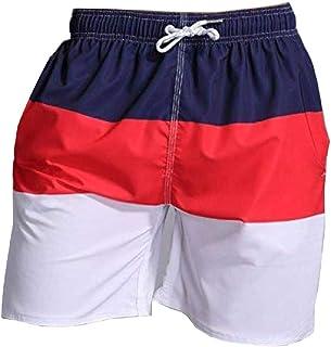Men's Swimwear Loose Beach Shorts Knee-up Trunks Bathing Suits Swim Shorts
