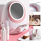 MANO 3 in 1 Dust-proof Makeup Organizer Portable Travel Jewelry Organizer Box with Drawers Spinning Tray Clear Earring Holder Stand Cosmetic Storage Container Plastic Display Case for Lipstick Brush