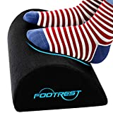 Foot Rest Under Desk Ergonomic Footrest Cushion Memory Foam Footrest Pillow with Non-Slip Bottom Leg Pillow for Feet Knee Back Pain Relief Foot Cushion for Home Office Car (Black)