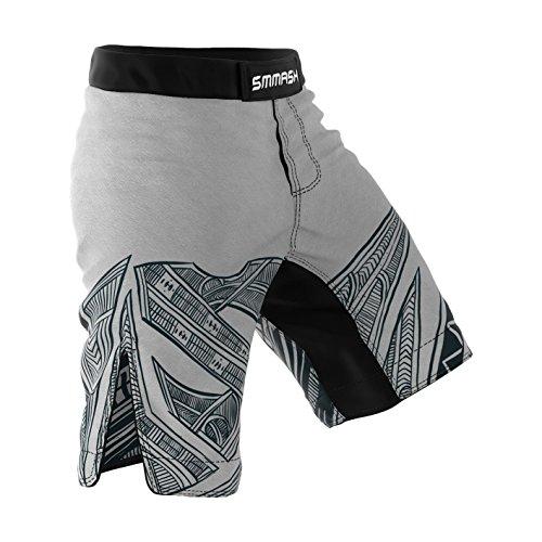 SMMASH Maori Herren Sport Shorts für MMA Boxen Kampfsport, UFC, Training Sporthose Kurz für Männer, Crossfit Trainingshose Atmungsaktiv und Leicht, Hergestellt in der EU (L)
