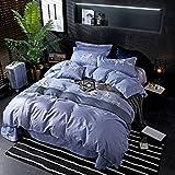yaonuli Baumwolle vierteilige große Bettbezug Bettwäsche Baumwolle Twill Bettwäsche Hochzeit für Norwegen 2,0 m Bett