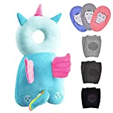 7 Pack|Baby Head Protector 1 & Baby Knee Pads for Crawling 3 Pairs & Baby Socks 3 Pairs,Baby Walking Suit, Angel