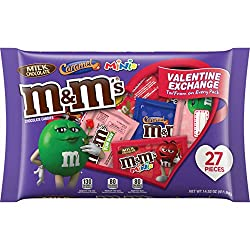 M&M'S Fun Size Valentine's Day Chocolate Candy, 14.52 Oz 27 Piece Bag