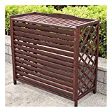 wooden appliance cover - Flower stand Wooden air Conditioning Rack Conditioning Shell Blinds Solid Wood air Conditioning Cover Outdoor Plant Storage,Wooden air Conditioner Outer Frame