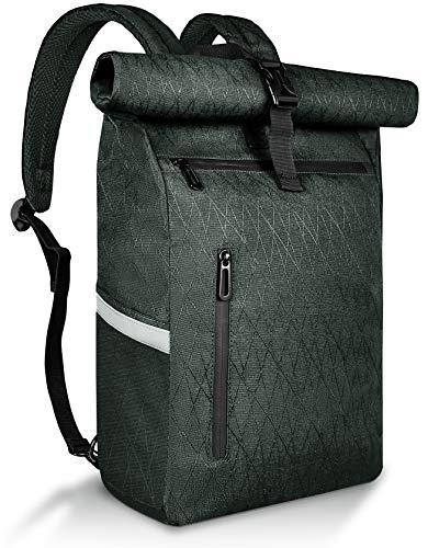 HAVISON Fahrradtasche für Gepäckträger, 22L Hinterradtaschen, Multi-Fach Gepäcktasche, Wasserdicht and Reflektierend (Schwarz)