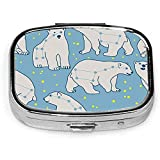 Ursa Minor Polar Bear Pastillero Estuche Cuadrado Tableta Medicina Bolsillo Monedero Píldora de viaje VitaminBox Estuche