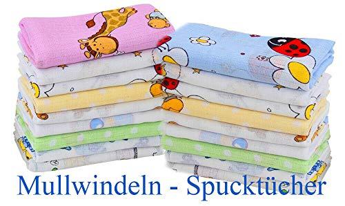 Mullwindeln Stoffwindeln Spucktücher Baumwollwindeln 70x80 Babytücher Spucktuch (Mädchen Farben 5er Set)