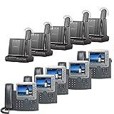 Plantronics Savi W745-M Wireless Headset System Cisco Unified IP Phone 7975G (5 Pack) Combo