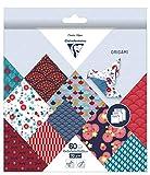 Clairefontaine 95347C - Une pochette origami 60 feuilles 70g (3 formats de papier : 10x10 cm, 15x15 cm, 20x20 cm , motifs assortis (10 motifs x 2 feuilles par format), Hanayo