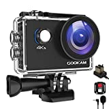GOOKAM Sports Camera 4K WiFi 20MP Ultra HD, Waterproof 40M 170 ° Wide-Angle 2.0 '' LCD with External Microphone 2.4G Remote Control, Action Camera with 2 Rechargeable Batteries and Accessories Kit - GO 2