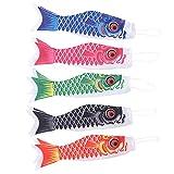 YARNOW 5Pcs Japanischen Karpfen Windsack Streamer Fisch Flagge Kite Wind Spinner Koinobori Hängende...
