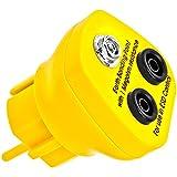 Minadax® Pietra – EBP – innovative protezione ESD antistatico da costruzione di messa a terra spina – presa standard tedesco – 1 x presa pulsante femmina e 2 x spina a Banana – 1 Mega ohm